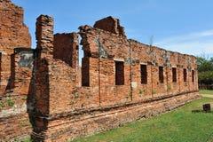 Mur de briques au wat Phar Srisanphet, Thaïlande Photos libres de droits