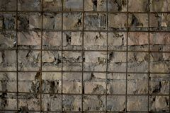 Mur de briques avec des garnitures Photo stock