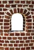 Mur de briques avec l'hublot Photographie stock