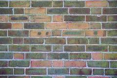 Mur de briques avec la texture de fond de peinture d'épluchage Photos libres de droits