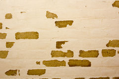Mur de briques avec la vieille peinture Image libre de droits