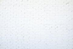 Mur de briques blanc Images libres de droits