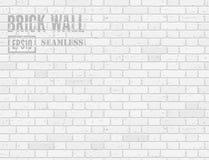 Mur de briques blanc illustration libre de droits