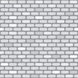 Mur de briques blanc Configuration sans joint Photo libre de droits