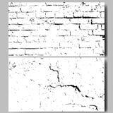 Mur de briques blanc et noir grunge background Vecteur Photo libre de droits