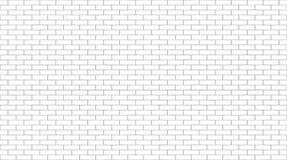 Mur de briques blanc Fond sans joint de vecteur Photo libre de droits