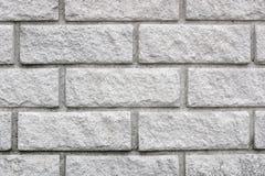 Mur de briques blanc neuf Photographie stock libre de droits