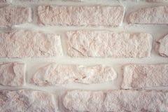 Mur de briques Blanc-rose Image libre de droits