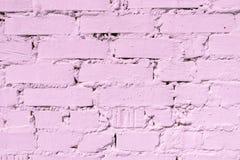 Mur de briques blanchi, couleur rosâtre modifiant la tonalité, intérieur, fond de conception et texture Photographie stock