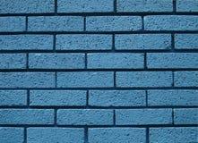 Mur de briques bleu Images libres de droits