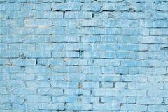 Mur de briques bleu Image libre de droits