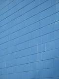 Mur de briques bleu Photo libre de droits