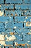 Mur de briques bleu Photographie stock libre de droits