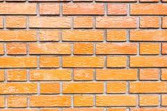 Mur de briques brillant rouge Photos libres de droits