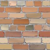Mur de briques Brique vieille, rouge Fond Vecteur Images libres de droits