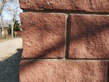 Mur de briques de Brown Dextura inégal photo stock