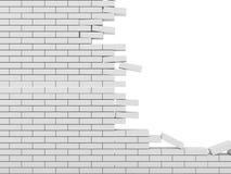 Mur de briques cassé illustration de vecteur