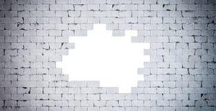 Mur de briques cassé Contient le chemin de coupure illustration de vecteur