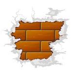 Mur de briques cassé par vecteur