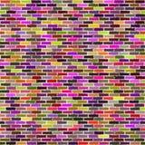 Mur de briques coloré illustration libre de droits