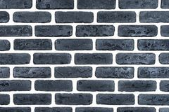 Mur de briques décoratif noir Images libres de droits