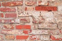 Mur de briques désordonné Images libres de droits