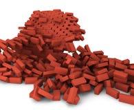 Mur de briques détruit illustration de vecteur