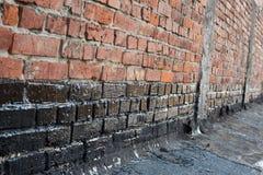 Mur de briques d'amorçage images libres de droits