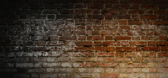 Mur de briques d'obscurité de vintage Photos libres de droits