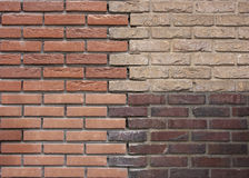Mur de briques d'une maison rénovée Images stock