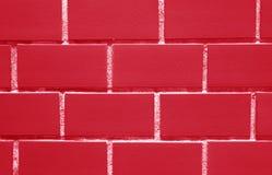 Mur De Briques Dans La Couleur Rouge De Fraise Fermee Pour Le Fond