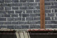 Mur de briques de bâtiment Photos libres de droits