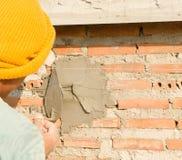 Construction pour le mur Images libres de droits