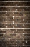 Mur de briques de brun foncé photo stock