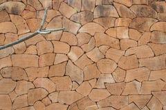 Mur de briques de conception en Thaïlande du nord Image libre de droits