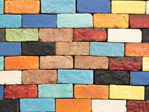 Mur de briques de couleur Photos libres de droits