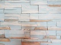 Mur de briques de couleur en pastel Images libres de droits