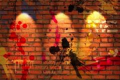 Mur de briques de cru Photos stock