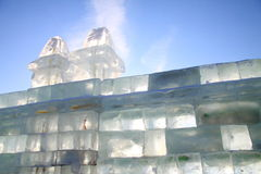 Mur de briques de glace Images stock