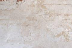 Mur de briques de vintage avec le stuc blanc minable, texture détaillée Photos libres de droits