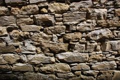 Mur de briques en Italie Images libres de droits