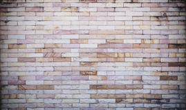 Mur de briques en pierre blanc et brun Image stock