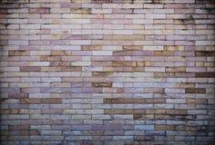 Mur de briques en pierre blanc et brun Photo libre de droits
