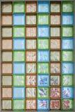 Mur de briques en verre Images stock