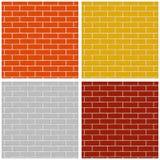Mur de briques Ensemble de configurations sans joint colorées illustration de vecteur