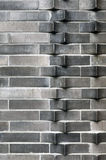 Mur de briques expulsé Images libres de droits