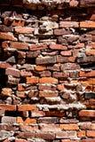 Mur de briques extérieur dans la vieille ville du sud Images libres de droits
