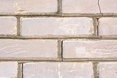 Mur de briques fendu et rayé Image libre de droits