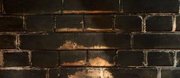 Mur de briques Fond de briques Briques de suie Photo libre de droits