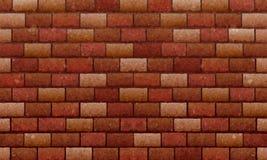 Mur de briques, fond de texture de mur de briques rouges de Brown pour la conception graphique, vecteur illustration stock